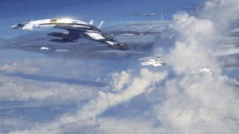 Mass effect normandy clouds Wallpaper