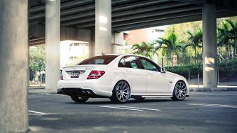 Mercedes c63 amg cars parking rims Wallpaper