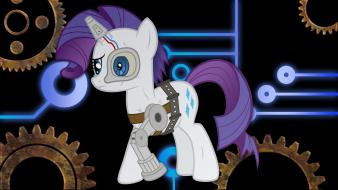 My little pony rarity cyborgs wallpaper