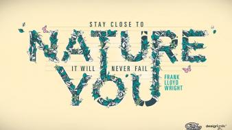 Nature simple background text typography Wallpaper