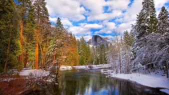 Park unesco world heritage site yosemite clouds wallpaper