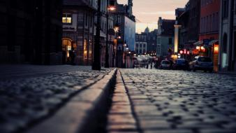 Poznan cities streetscape urban wallpaper