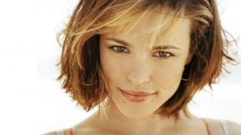 Rachel mcadams actress bra strap brunettes green eyes wallpaper