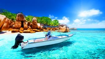 Seychelles beach wallpaper