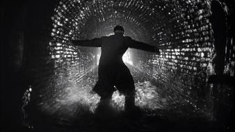 The third man grayscale movies tunnel wallpaper