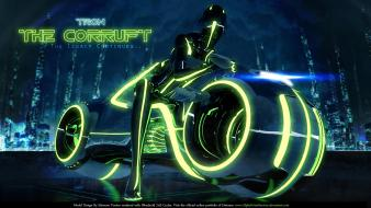 Tron legacy computers cover movies Wallpaper