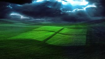Windows green background wallpaper