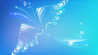 Abstract blue butterfly wallpaper