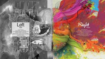 Albert einstein artistic brain colors creativity wallpaper