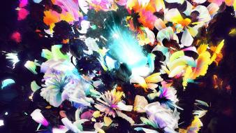 Artwork colors digital art floral flowers Wallpaper