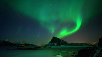Aurora borealis nature north wallpaper