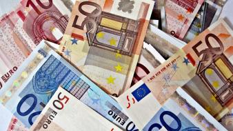 Bills cash currency euro man-made wallpaper