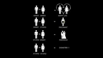 Black background funny marriage wallpaper