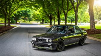 Bmw e30 black nature wallpaper