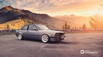 Bmw e30 gray landscapes white Wallpaper