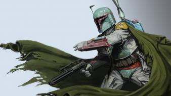 Boba fett star wars artwork wallpaper
