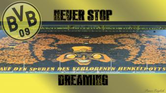 Bvb bvb09 bundesliga dreaming football logos wallpaper