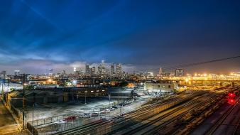 California los angeles nocturnal architecture buildings wallpaper