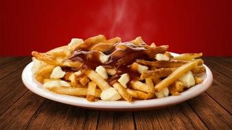Canada food french fries poutine stock wallpaper