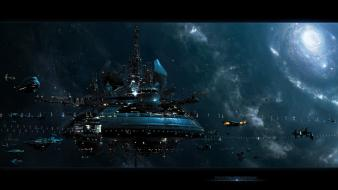 Cosmo futuristic outer space science fiction wallpaper
