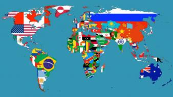 Countries flags maps world map Wallpaper