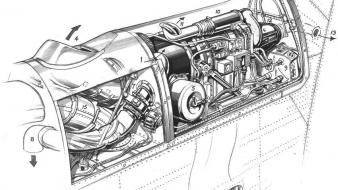 Cutaway drawings detail trident Wallpaper