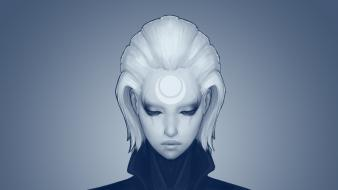 Diana league of legends white hair wallpaper