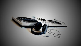 Dj artwork console deck headphones wallpaper