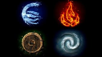 Four elements symbol wallpaper