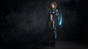 Ghost starcraft ii terran armor wallpaper