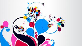 Graphics multicolor swirls vectors vintage wallpaper