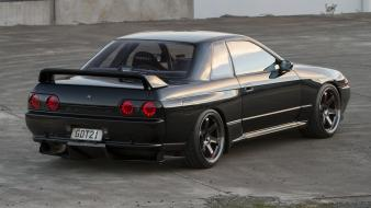 Gtr jdm japanese domestic market black cars drift wallpaper