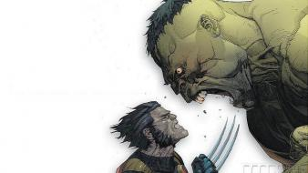 Hulk (comic character) marvel comics wolverine wallpaper