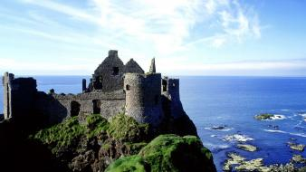 Ireland architecture castle dunluce ruins Wallpaper