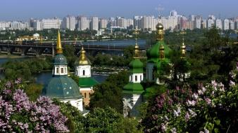 Kiev cityscapes wallpaper