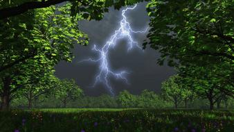 Lightning nature photography wallpaper