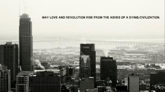 Montreal cityscapes love monochrome quotes Wallpaper
