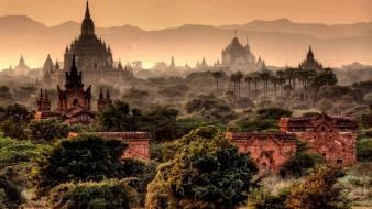 Myanmar temples wallpaper