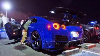 Nissan gtr modified blue tuning motor wallpaper