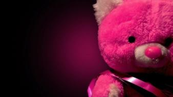 Pink teddy bear background wallpaper