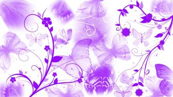 Purple butterfly abstract wallpaper