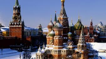 Red square russia destination tourist winter Wallpaper