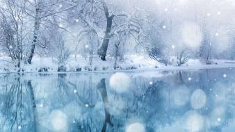 Snow river wallpaper