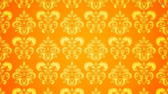 Yellow pattern background wallpaper