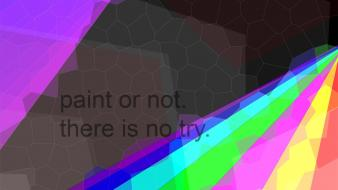 Yoda abstract colors paint quotes wallpaper