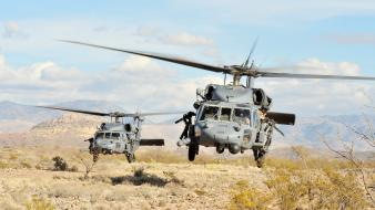 Aircraft army deserts helicopters military Wallpaper