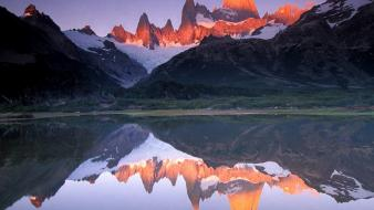 Argentina mount national park flat water landscapes wallpaper