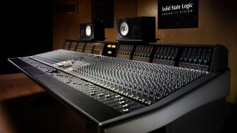 Audio mixer machines music studio wallpaper