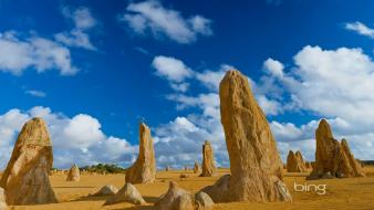 Australia bing national park blue skies landscapes Wallpaper