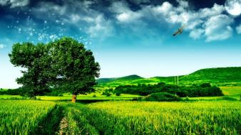 Awesome green landscape wallpaper